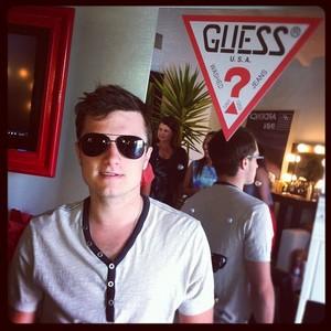 Josh Hutcherson wearing sunglasses <3