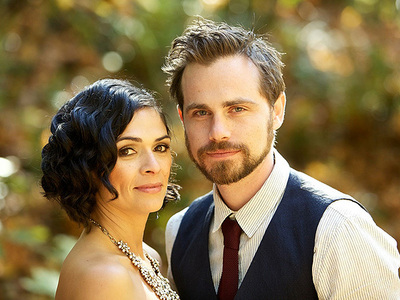 Matthew's bmw co star, Rider Strong with his newly wife. :)