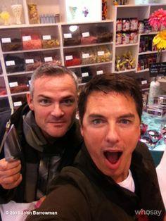 John in a sweets shop!