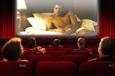 Matthew on the theater screen - I edited. :)