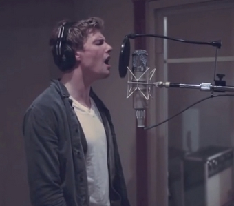 Screenshot from a video of Hunter Parrish singing. He has a lovely voice! <3