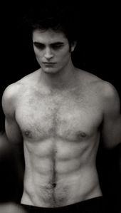 my sexy,shirtless Robert inaonyesha his yummy chest hair<3