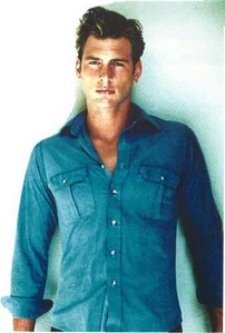 Ryan McPartlin wearing blue <3