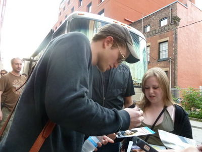 my British babe signing an autograph for a fan<3