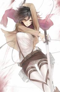 "Mikasa Ackerman from ""Shingeki No Kyojin"" because she is so badass <3"