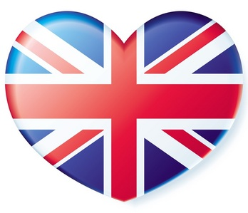 the British flag reminds me of Robert and since I love him so much,here is the British flag in the shape of a heart<3