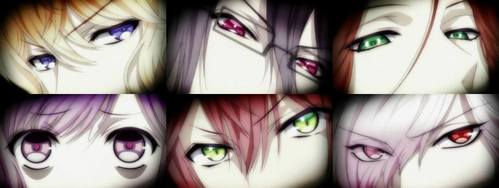 All of their eyes :9 (from Diabolik Lovers)