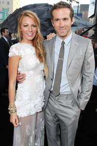 Ryan Reynolds with his wife Blake Lively.
