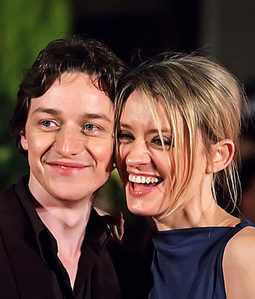 James McAvoy with his wife Anne Marie Duff.