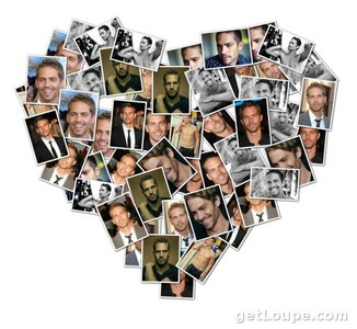 a Paul Walker হৃদয় collage.He will live on in all of our hearts<3