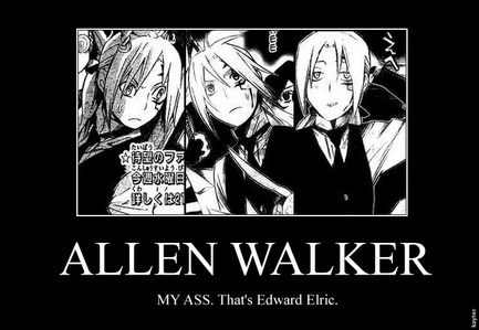 Allen (D.Grayman) and Ed (Full Metal Alchemist) Transforming arms, anyone? And when Allen's hair gets longer, doesn't he look like Ed?