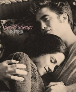 Robert and Kristen as Edward and Bella cuddling together in a scene from Eclipse<3