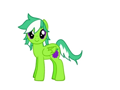 Name: smaragd, emerald Ivy Race: Pegasus Gender: Mare Personality: Helpful and cheery, but doesn't always play door the rules. Talent: Growing crops. She has quite a green hoof(green thumb XD)