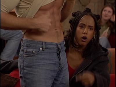 The pants!!!!! Grrrrr!!!!!! I want to unzip!!!! :P