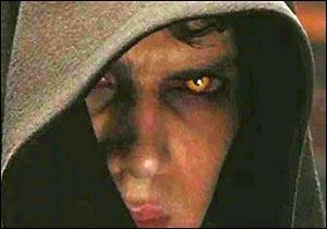 Hayden Christensen as Anakin Skywalker with evil eyes<3