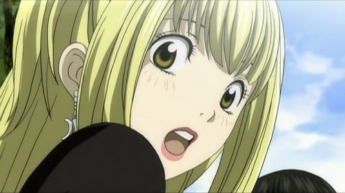 Misa Amane from Death Note. This scene was hilarious!