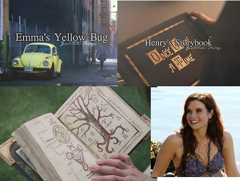 I would steal... Henry's storybook to read all the stories again and again, a magic spell book to learn magic though I would use it for good not like Regina, Ariel's bracelet so I could become a mermaid, and Emma's yellow bug because it is awesome and super cute.