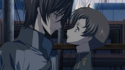 Lelouch & Rolo (Code Geass R2) Rolo is not his real brother of Lelouch but they became brothers......and rolo is sooo attached to his brother .that he want him for himself..if anyone tries to tình yêu Lelouch he will kill them in an instant.......even though Lelouch used him as a tool....rolo was happy to be his brother knowing he was just a tool....when Shirley who loves Lelouch thêm rolo killed her in an instant.....and Lelouch gave rolo an order to protect his loving sister nunnaly.but instead Rolo was going to kill her.soooo he will get Lelouch for himself.......but his plan failed........but the last moment of Rolo was touchy......he saved Lelouch from the whole army with his time stopping gias power..but as cost of using tooo much gias power Rolo died bởi saving his brother...........