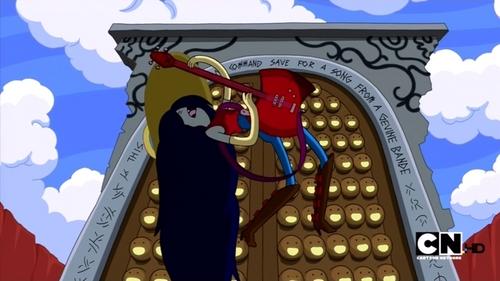 Episode: What Was Missing       When Marceline was singing Just Your Problem in front of the Door Lord's Door