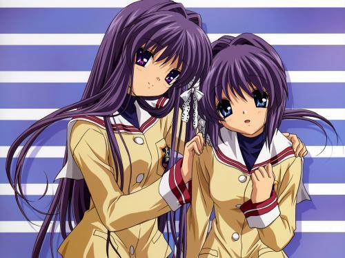 Kyoko and Ryoko from clannad