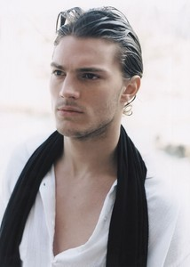 Jamie wearing a white shirt<3