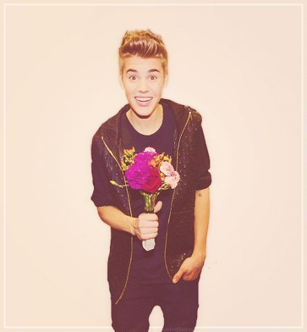 I will happily accept the Цветы from you, Justin<3