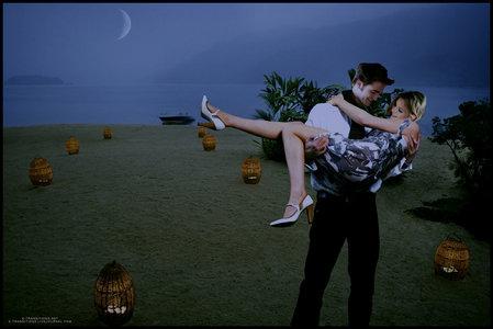 Robert and Kristen on an island<3