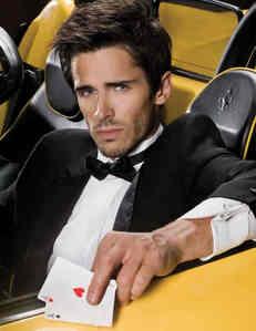 Brandon Beemer in a yellow car <3