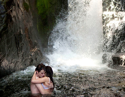 Robert and Kristen in a waterfall<3