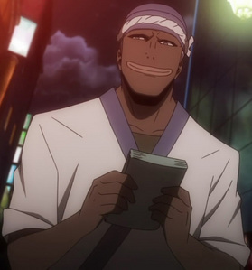 Simon's voice from Durarara is really deep he's the Russia Sushi guy