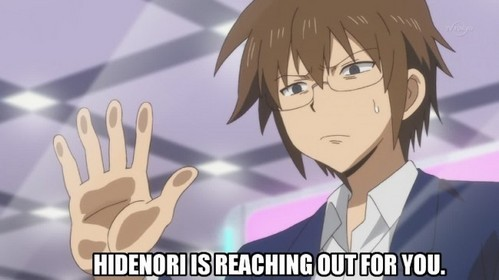 I find this image hilarious! I guess it's because it is from Daily Lives of High School Boys and Hidenori is my favorite character.... he is so crazy.