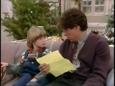 Little Matti in Gimme a Break with a natal daftar that his neighbor reads. <33333