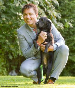 John with a dog<3