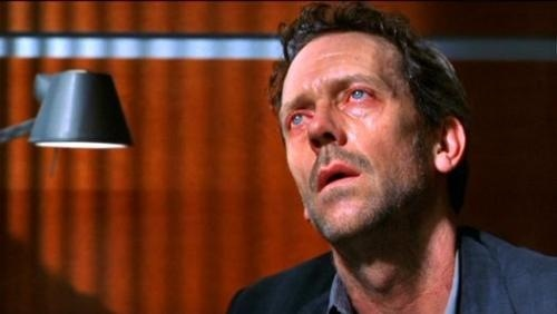 Hugh Laurie as House in pain