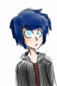 """Name: Leon Age: 16 Dating/Crush?: none. Pair them up?: yes....... Basically everyone loves him tho. Likes (5+): magic,spending time with people, having a friend,hugs,he likes everything but he really is alone. Dislikes (5+): Traders,heat,lightning,being called a shortie(even tho he is),not helping. Bio(more than a line): His father doesn't let him be at Home because Leon doesn't go Von his fathers footsteps. His father does not accept Leon. So he is just on his own journey. He's afraid of thunder cause once he was walking at a thunder storm and almost got struck Von lightning. He does have a few breathing problems. Picture: beloooow HEIGHT: oh he's a shorty like I dunno. 5""""6"""" Talents: Oh he have no talent. Meh. Probably 'art' Weaknesses: his breathing problems,heat. Strengths: Reading. ,his willpower Fear/s: Thunder. He's afraid of it Anything else that is important?: he's kinda sticky with people and he's like really trying to be polite."""