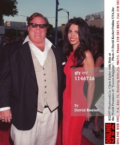 Chris Farley with his girlfriend