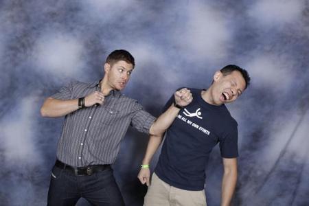 Jensen Ackles punching a random guy lol