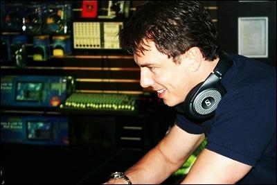 John in a studio.