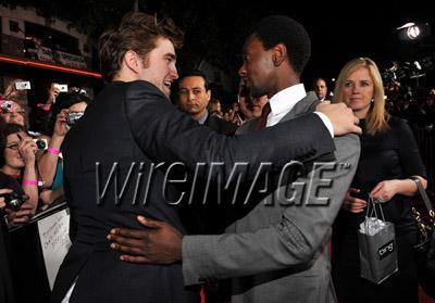 my sweetie(who was born in England) with his New Moon co-star,Edi Gathegi(who was born in Kenya)<3