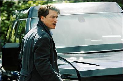 Captain Jack in a Torchwood scene.