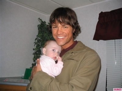 Jared Padalecki holding his baby <3