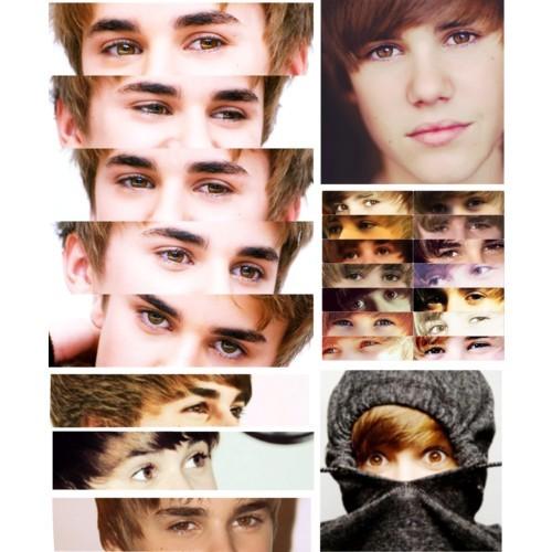 the Biebster's brown eyes<3