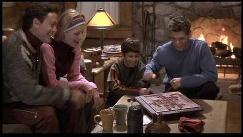 Matthew in a scene of The Hot Chick, playing Scrabble. :)
