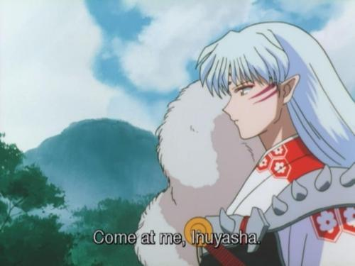 """I found this one and I find it funny. Just in case 당신 can't read the subtitles on there it is """"Come at me, Inuyasha."""" Haha it literally is """"Come at me, bro"""""""