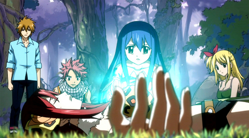 Wendy healing Erza from Fairy Tail