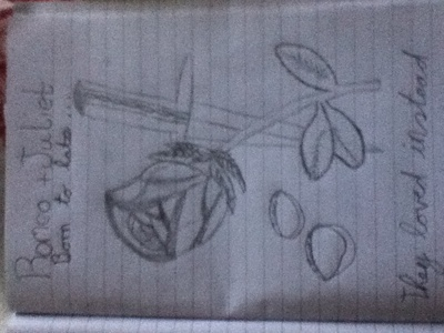 Titanic and Romeo and Juliet… I can't choose one Ps I drew the pic, is it good? : /