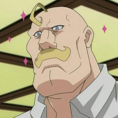 Alex Louis Armstrong (Fullmetal Alchemist) has quite a big mustache