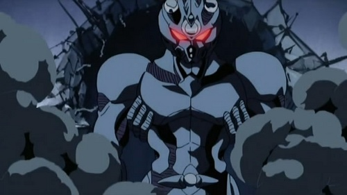 The regenerated Guyver 1 aka Sho Fukamachi crashing into and through the 벽 inside this building complex in Guyver The Bioboosted Armor