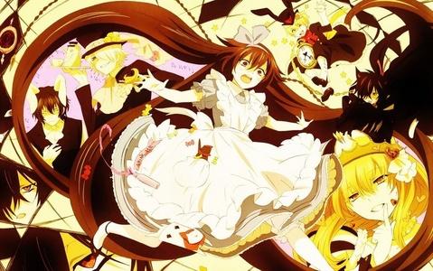 Pandora Hearts is Alice in Wonderland themed