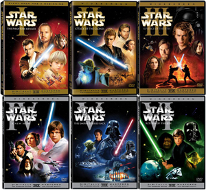 Currently there are a total of six movies/episodes. तारा, स्टार Wars: Episode I The Phantom Menace (1999) तारा, स्टार Wars: Episode II Attack of the Clones (2002) तारा, स्टार Wars: Episode III Revenge of the Sith (2005) तारा, स्टार Wars: Episode IV A New Hope (1977) तारा, स्टार Wars: Episode V The Empire Strikes Back (1980) तारा, स्टार Wars: Episode VI Return of the Jedi (1983)